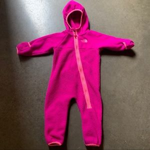 Infant Baby The North Face Fleece Bunting Onesie